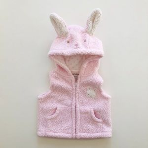 10/$30 0-3M BUNNIES BY THE BAY Bunny Hooded Vest